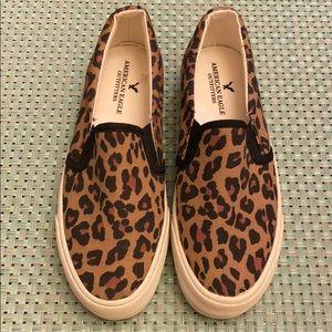 American Eagle leopard 🐆 slip on shoe